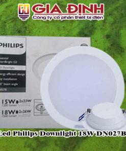 Đèn Led Philips Downlight 18W DN027B