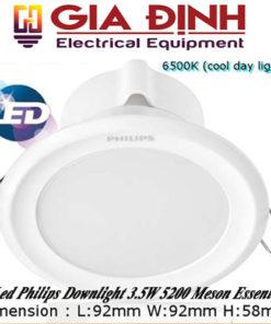 Đèn Led Philips Downlight 3.5W 5200 Meson Essential