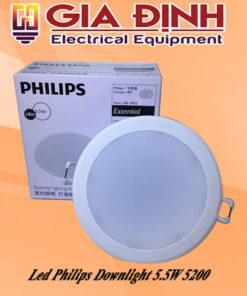 Đèn Led Philips Downlight 5.5W 5200 Meson Essential