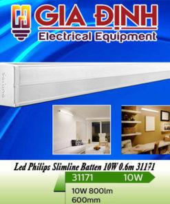 Đèn Led Philips Slimline Batten 10W 0.6m 31171