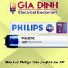 Đèn LED philips tube ecofit 0.6m 8W