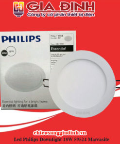 Đèn Led Philips Downlight 18W 59524 Marcasite
