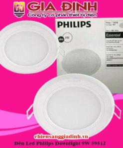 Đèn Led Philips Downlight 9W 59512 Marcasite