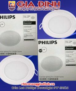 Đèn Led Philips Downlight 9W 59526 Marcasite