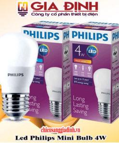 Đèn Led Philips mini bulb 4W